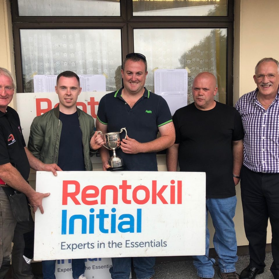 Diarmuid Lynch, David Devane, Pat O'Driscoll Winner, Tommy Daly COC and Michael O'Mahoney Rentokil Initial.